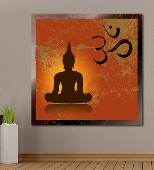 Well-liked Buy Cotton Canvas 60 x 0.4 x 60 Inch Buddha & Om Symbol Painting  SU12