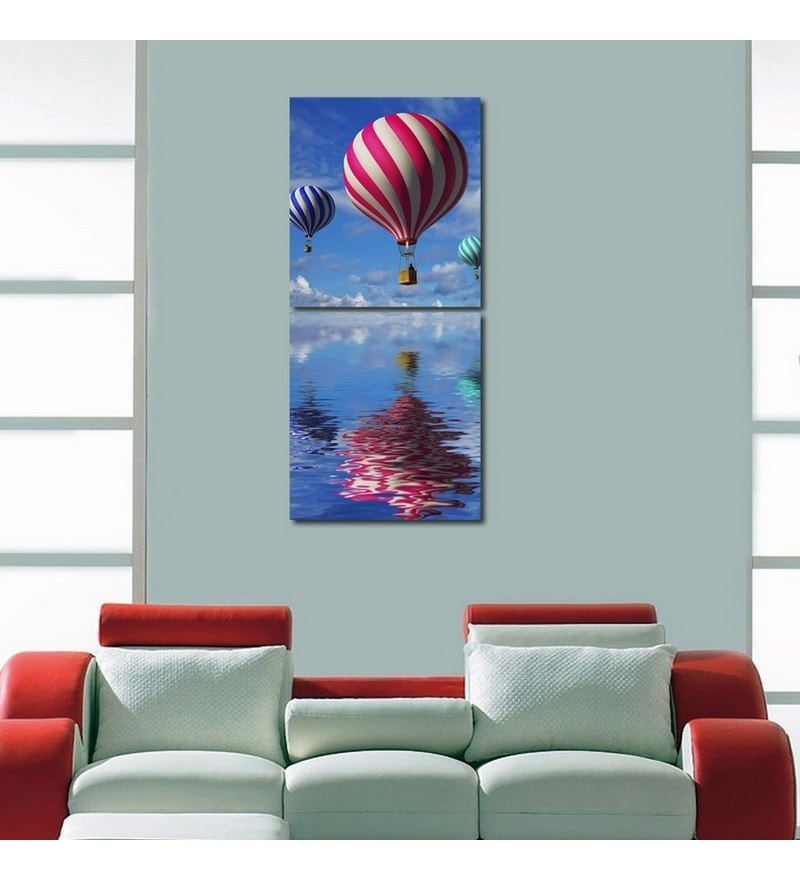 Sun Board 15 x 17 Inch Colorful Air Balloon Durable Painting - Set of 2 by 999Store