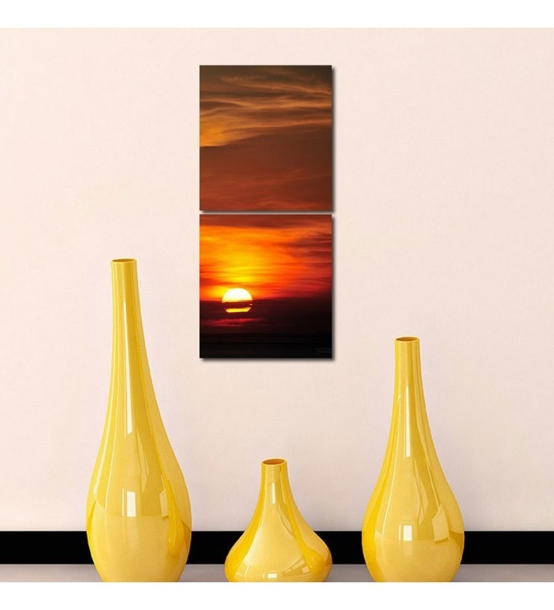 Sun Board 15 x 17 Inch Sunset View Durable Painting - Set of 2 by 999Store