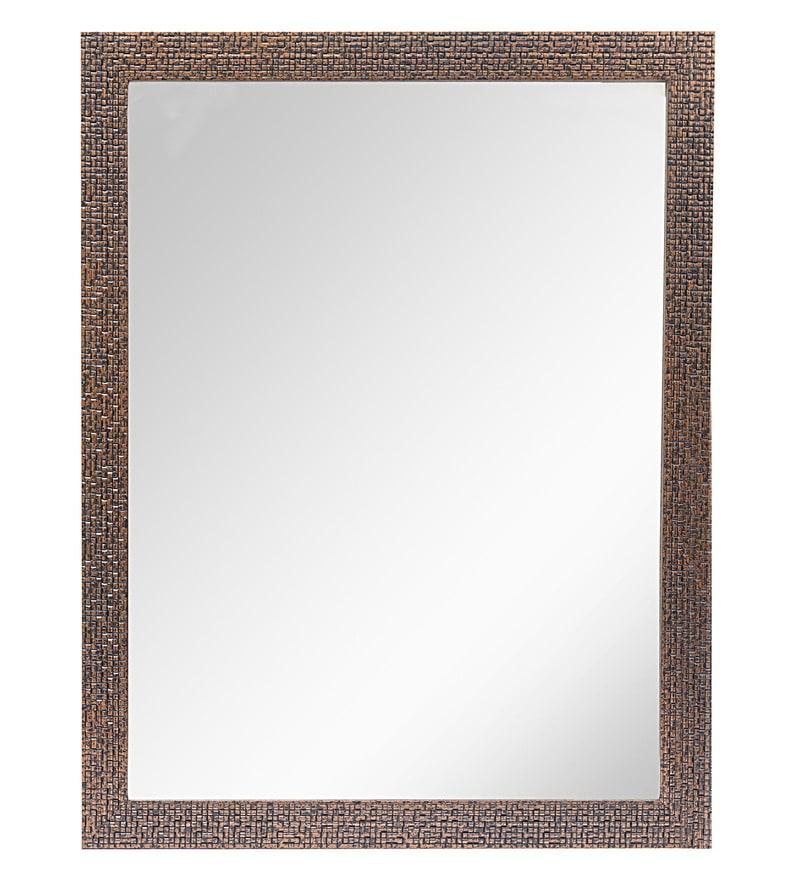 999Store Brick Brown Fiber & Glass Framed Bathroom Wall Mirror
