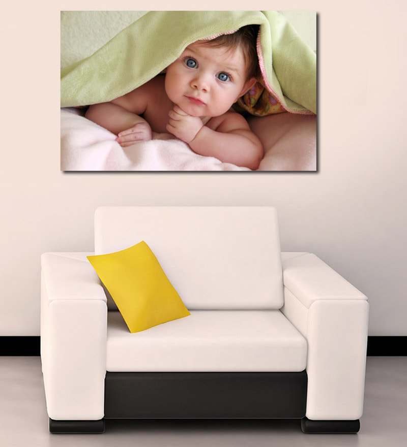 Vinyl Baby Under Blanket Durable & Washable Wall Sticker by 999Store