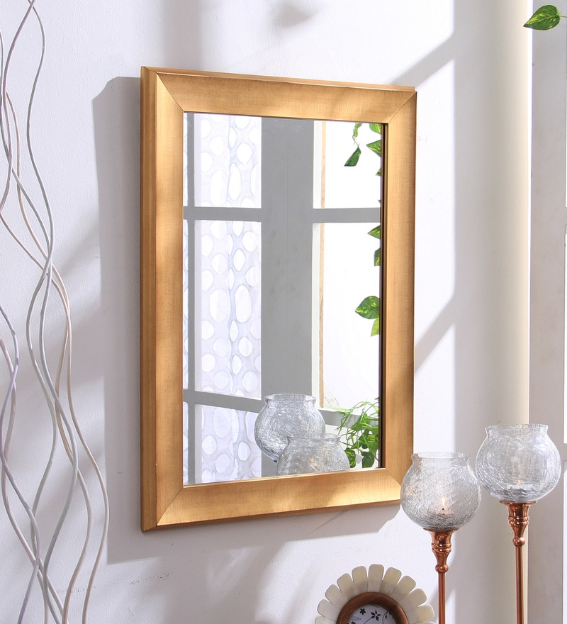 Gold Fibre Decorative Wall Mirror by 999Store