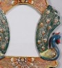 999Store Antique Royal Multicolour Wooden 11 x 0.5 x 15.4 Inch Peacock Hand Crafted Family Wall Hanging Photo Frame