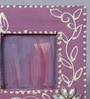 999Store Antique Royal Purple Wooden 5 x 0.3 x 5 Inch Flower Hand Crafted Family Table Photo Frame