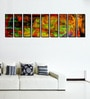 Fibre 103 x 0.8 x 30 Inch Abstract Artwork Framed Art Panels - Set of 9 by 999Store