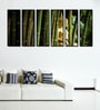 Fibre 70 x 0.8 x 30 Inch Buddha in The Bamboo Forest Framed Art Panels - Set of 6 by 999Store