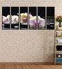 Fibre 70 x 0.8 x 30 Inch Flower Framed Art Panels - Set of 6 by 999Store