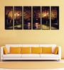 Fibre 70 x 0.8 x 30 Inch Nature in The Night Framed Art Panels - Set of 6 by 999Store