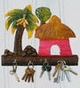 999Store Multicolour Wood Tree & House Key Holder