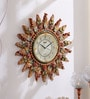 Multicolour Wooden 17 Inch Round Royal Hand Crafted Antique Sun Clock by 999Store