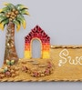 999Store Multicolour Wooden Hand Crafted Beautifully Painted Sweet Home Name Plate Door Hanging
