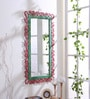 999Store Multicolour Wooden Hand Crafted Painted Decorative Wall Mirror