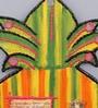 999Store Multicolour Wooden Handmade Craft Decorative Kalash Spiritual Wall Hanging