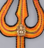 999Store Multicolour Wooden Handmade Craft Decorative Trishul Spiritual Wall Hanging