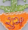 999Store Multicolour Wooden Handmade Diwali Flower Pot Shubh Labh Door Hanging - Set of 2