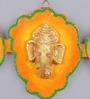 999Store Multicolour Wooden Handmade Ganesh Shubh Labh Door Hanging