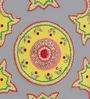 999Store Multicolour Wooden Handmade Rangoli - Set of 9