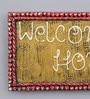 999Store Multicolour Wooden Welcome Home Name Plate Door Hanging Handicraft