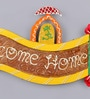 999Store Multicolour Wooden Welcome Name Plate Door Hanging Rajasthani Handicraft