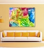 Cotton Canvas 48 x 0.4 x 36 Inch Abstract Bright Flowers Painting Unframed Digital Art Print by 999Store
