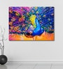 999Store Vinyl 48 x 0.4 x 36 Inch Colourful Peacock Painting Unframed Digital Art Print