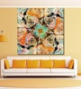 Vinyl 48 x 0.4 x 48 Inch Abstract Geometric Elements Painting Unframed Digital Art Print by 999Store