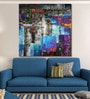 Cotton Canvas 48 x 0.4 x 48 Inch Abstract Grunge Colourful Squares Painting Unframed Digital Art Print by 999Store