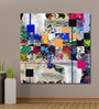 Vinyl 48 x 0.4 x 48 Inch Colourful Abstract Beautiful Collage Painting Unframed Digital Art Print by 999Store