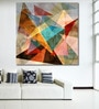 999Store Vinyl 48 x 0.4 x 48 Inch Unusual Bright Colourful Geometric Abstract Painting Unframed Digital Art Print