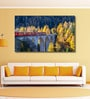 Cotton Canvas 60 x 0.4 x 36 Inch Train Running on The Viaduct with View of Colourful Trees on A Sunny Autumn Day Painting Unframed Digital Art Print by 999Store