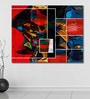 Cotton Canvas 60 x 0.4 x 48 Inch Abstract Collage Painting Unframed Digital Art Print by 999Store