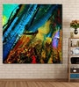 Cotton Canvas 60 x 0.4 x 60 Inch Abstract Chaotic Painting Unframed Digital Art Print by 999Store