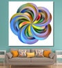 Cotton Canvas 60 x 0.4 x 60 Inch Coloured Flower As A Symbol of Contemporary Painting Unframed Digital Art Print by 999Store