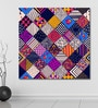 999Store Vinyl 60 x 0.4 x 60 Inch Colourful Abstract Squares Painting Unframed Digital Art Print