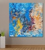 Cotton Canvas 60 x 0.4 x 60 Inch Multicolour Strokes Abstract Painting Unframed Digital Art Print by 999Store