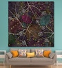 Cotton Canvas 60 x 0.4 x 60 Inch Spider Web Painting Unframed Digital Art Print by 999Store