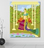 999Store Vinyl 60 x 0.4 x 72 Inch Queen in Indian Painting Unframed Digital Art Print