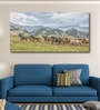 Cotton Canvas 72 x 0.4 x 36 Inch Horses Stampede Painting Unframed Digital Art Print by 999Store