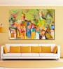 Cotton Canvas 72 x 0.4 x 48 Inch Abstract Colourful Painting Unframed Digital Art Print by 999Store