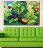Cotton Canvas 72 x 0.4 x 48 Inch Blurred Spot Abstract Painting Unframed Digital Art Print by 999Store