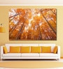 Vinyl 72 x 0.4 x 48 Inch Bright Coloured Tall Autumn Trees Painting Unframed Digital Art Print by 999Store