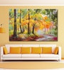 Cotton Canvas 72 x 0.4 x 48 Inch Colourful Autumn Forest Painting Unframed Digital Art Print by 999Store