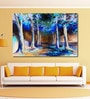 999Store Vinyl 72 x 0.4 x 48 Inch Colourful Spring Road in The Forest Painting Unframed Digital Art Print