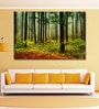 Vinyl 72 x 0.4 x 48 Inch Forest with Sun Rays & Long Shadows Painting Unframed Digital Art Print by 999Store