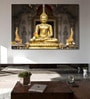 Cotton Canvas 72 x 0.4 x 48 Inch Golden Buddha in The Bamboo Forest Painting Unframed Digital Art Print by 999Store