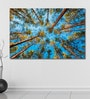 Cotton Canvas 72 x 0.4 x 48 Inch Looking Up in Spring Pine Forest Painting Unframed Digital Art Print by 999Store