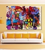Cotton Canvas 72 x 0.4 x 48 Inch Modern Mixed Media Abstract Painting Unframed Digital Art Print by 999Store