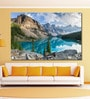 Cotton Canvas 72 x 0.4 x 48 Inch Moraine Lake with The Rocky Mountains Painting Unframed Digital Art Print by 999Store