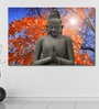 Cotton Canvas 72 x 0.4 x 48 Inch Old Buddha Red Maple Painting Unframed Digital Art Print by 999Store