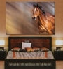Cotton Canvas 72 x 0.4 x 48 Inch Running Horse Painting Unframed Digital Art Print by 999Store